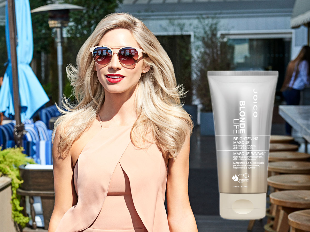 Blonde Life Masque model and product