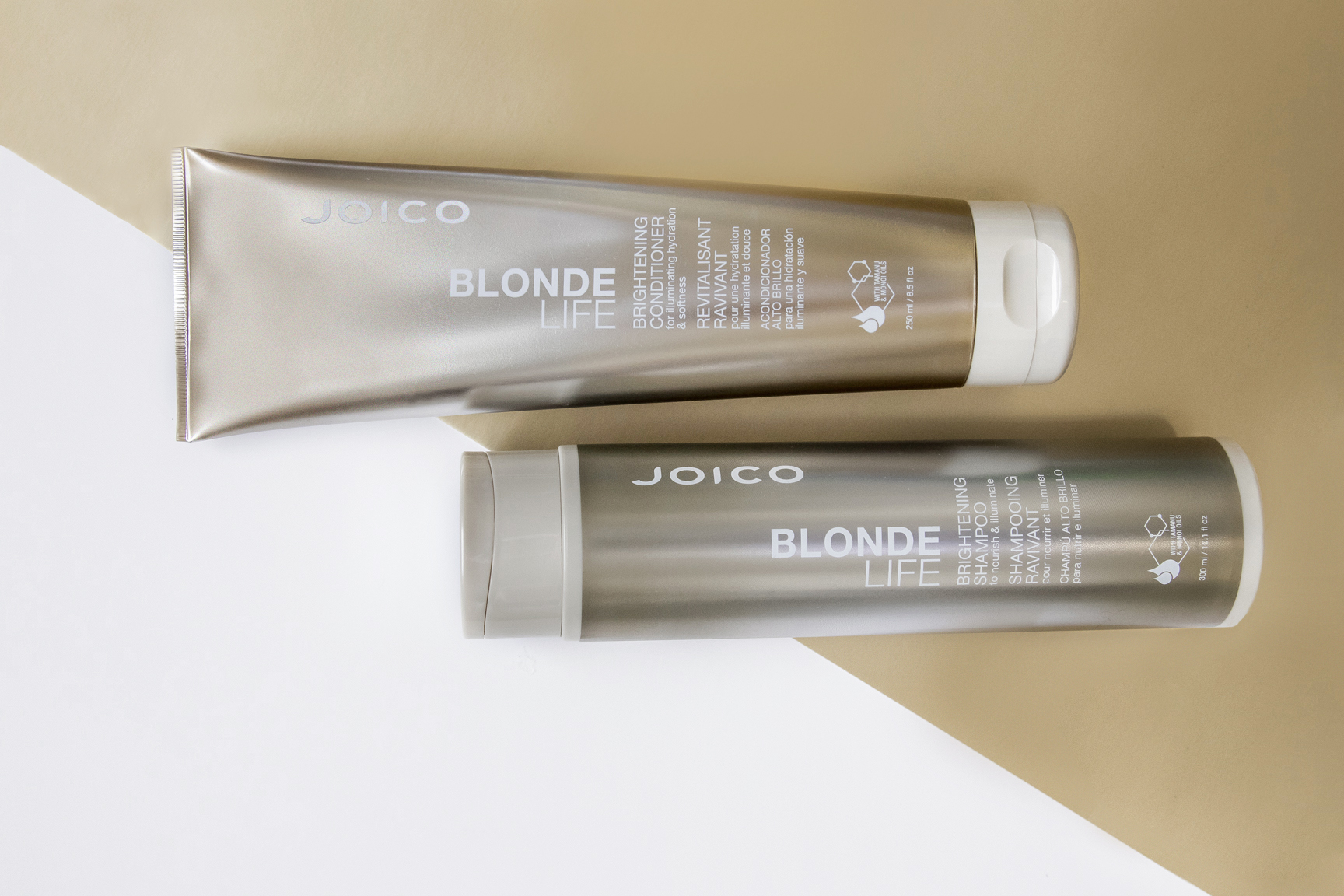 Blonde Life Shampoo and Conditioner bottles