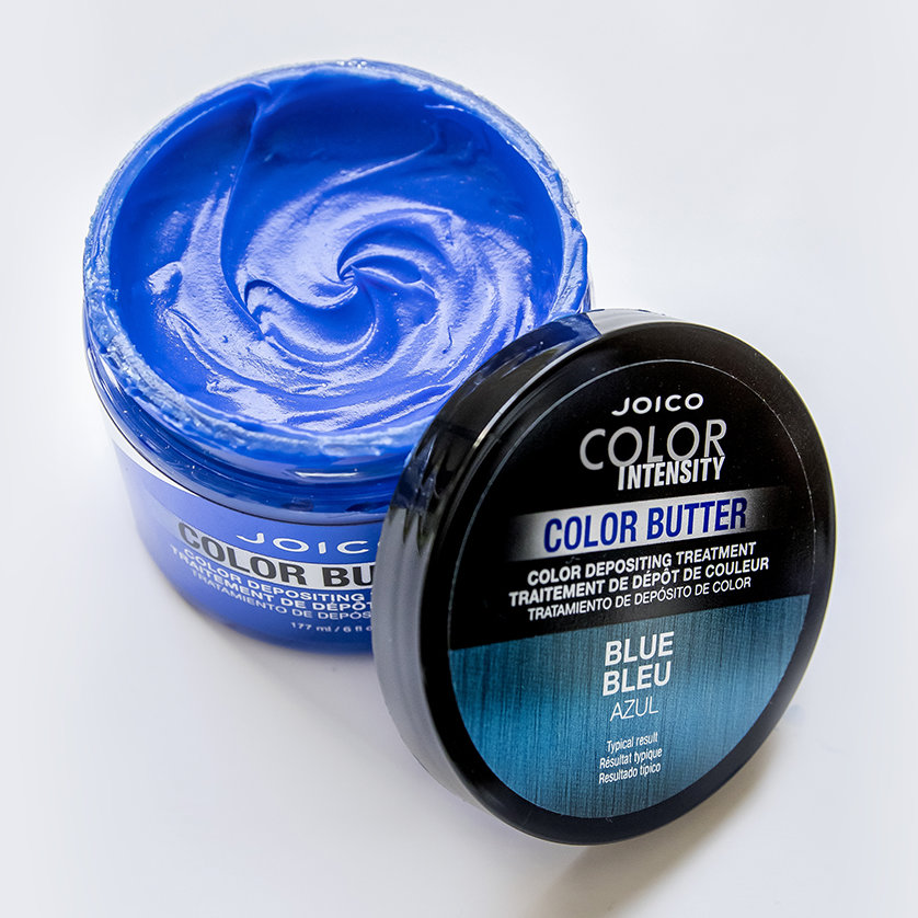Color Butter Blue jar open