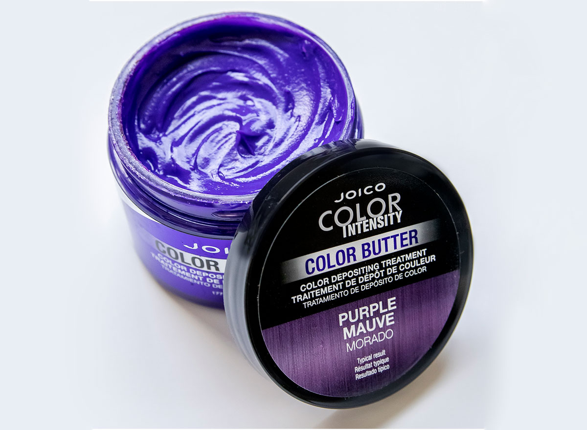 Color Butter Purple jar open