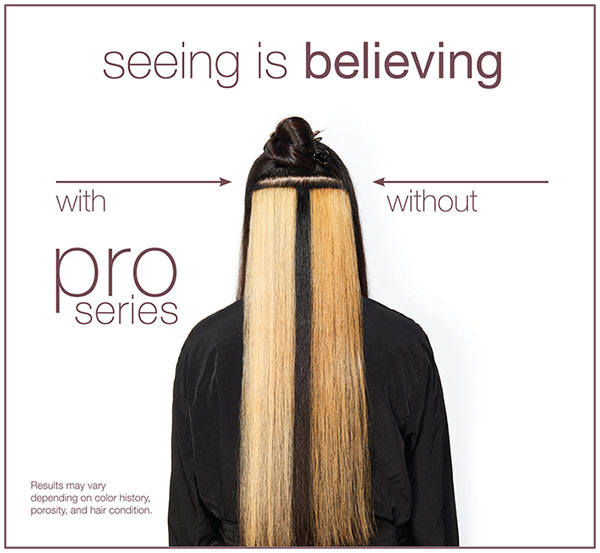 With and without Defy Damage Pro Series. Lightened Hair