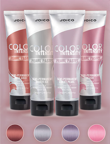 Color Intensity Pearl Pastel Bottles and swatches